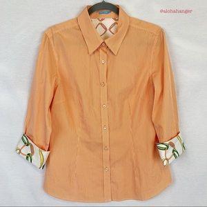 J. McLaughlin 100% Silk/ 100% Cotton Blend Blouse!